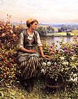 Daniel Ridgway Knight Knight Daydreaming painting