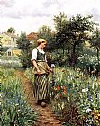 Daniel Ridgway Knight In the Garden painting