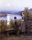 Daniel Ridgway Knight Summer Evening painting