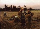 Daniel Ridgway Knight Knight The Harvesters painting