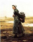Daniel Ridgway Knight The Oyster Gatherer painting