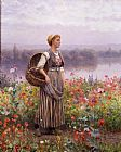 Daniel Ridgway Knight The Flower Girl painting