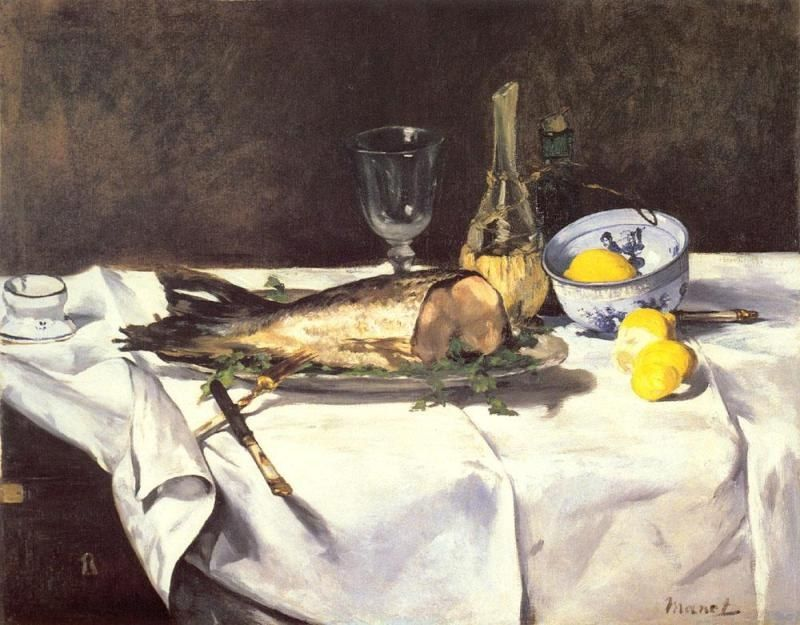 Edouard Manet The Salmon