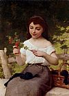 Emile Munier A Sprig of Berries painting