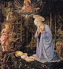 Filippino Lippi The Adoration with the Infant St painting