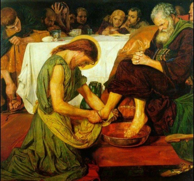 Ford Madox Brown Jesus washing Peter's feet at the Last Supper