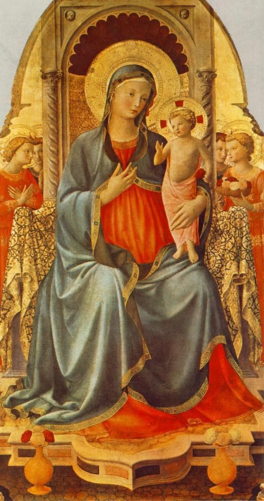 Fra Angelico Madonna with the Child and Angels