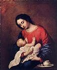Francisco de Zurbaran Madonna with Child painting