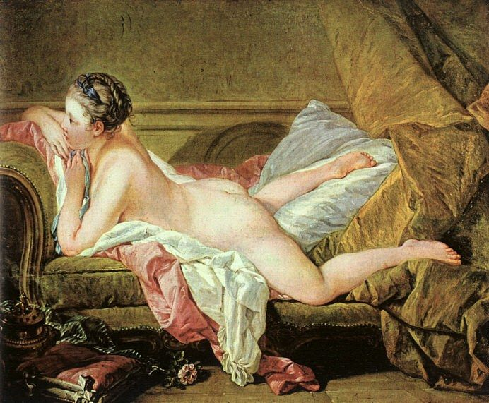 Francois Boucher Nude on a Sofa