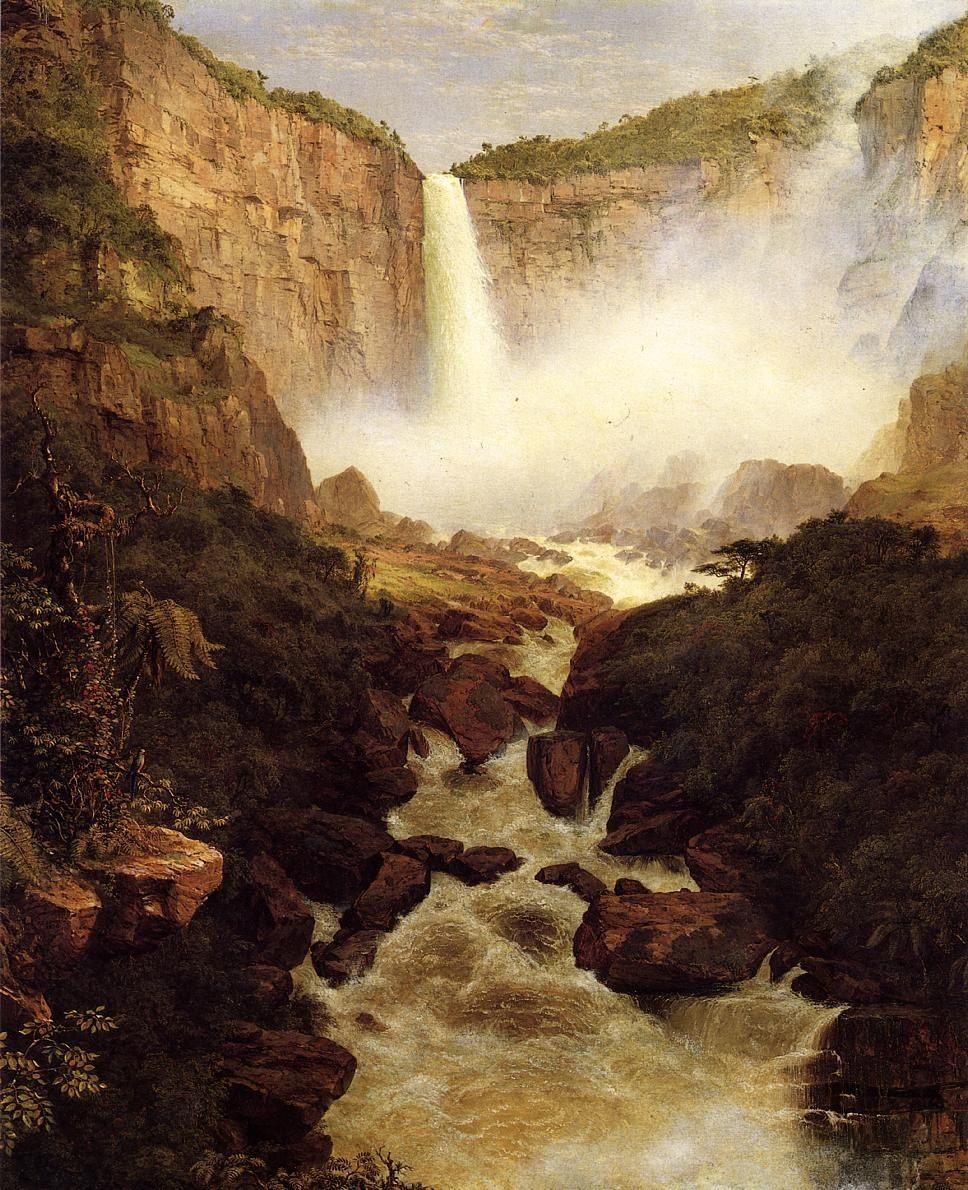 Frederic Edwin Church Tequendama Falls, near Bogota, New Granada