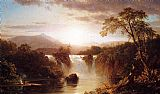 Frederic Edwin Church Landscape with Waterfall painting