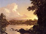 Frederic Edwin Church Scene on the Catskill Creek, New York painting