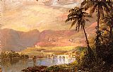 Frederic Edwin Church Tropical Landscape painting