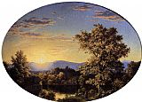 Frederic Edwin Church Twilight among the Mountains painting
