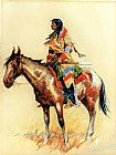 Hunting paintings - A Breed by Frederic Remington