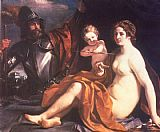 Guercino Venus, Mars and Cupid painting