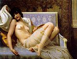 Nude paintings - Jeune femme denudee sur canape by Guillaume Seignac