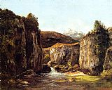 Gustave Courbet Landscape The Source among the Rocks of the Doubs painting