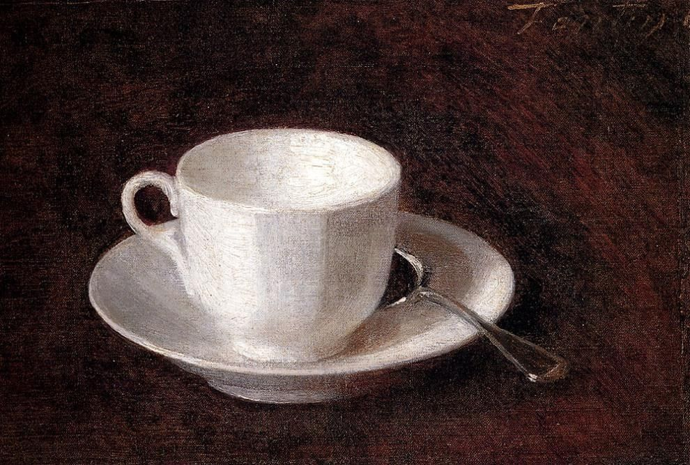 Henri Fantin-Latour White Cup And Saucer
