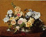 Henri Fantin-Latour Bouquet of Roses and Other Flowers painting