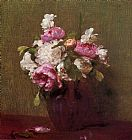 Henri Fantin-Latour White Peonies and Roses Narcissus painting