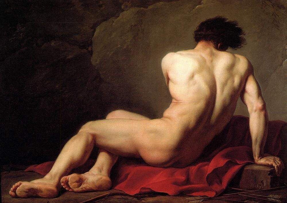 Jacques-Louis David Male Nude known as Patroclus