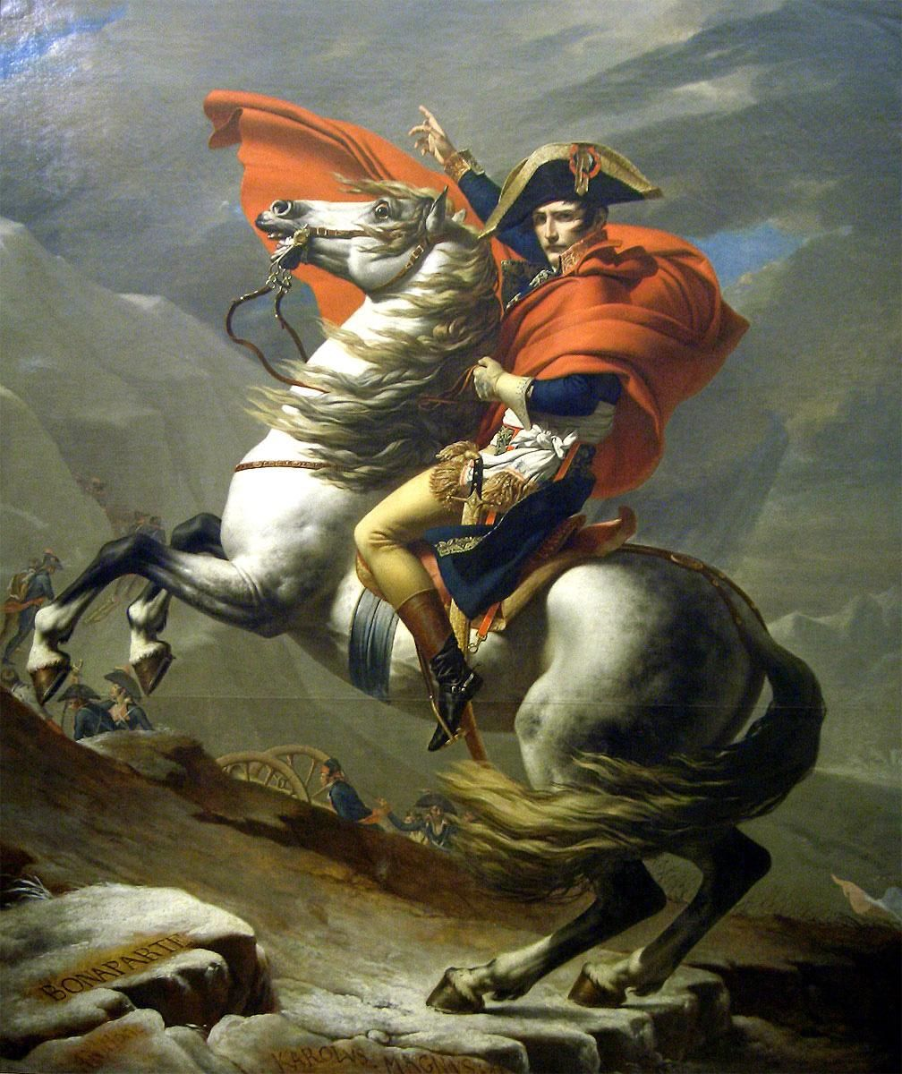 Jacques-Louis David Napoleon at the St. Bernard Pass