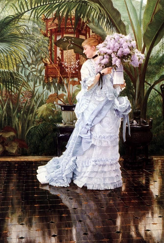 James Jacques Joseph Tissot The Bunch of Lilacs