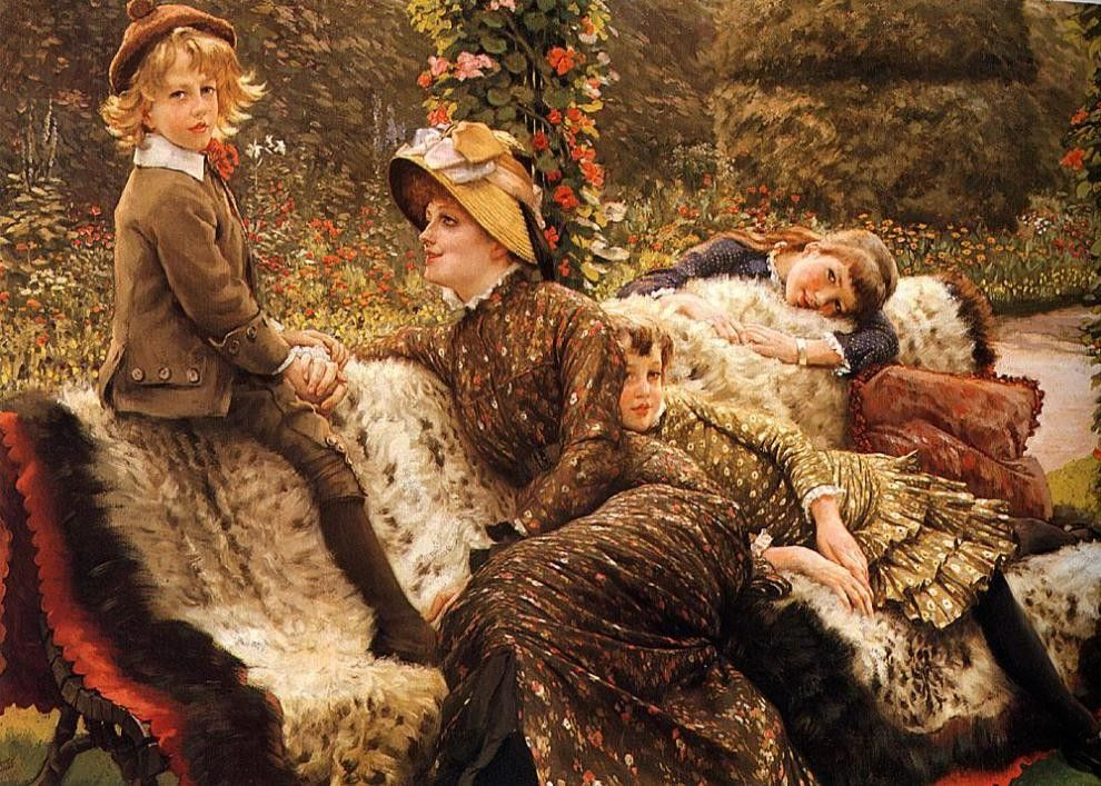 James Jacques Joseph Tissot The Garden Bench