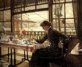 James Jacques Joseph Tissot Room Overlooking the Harbour painting