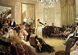 James Jacques Joseph Tissot The Concert painting