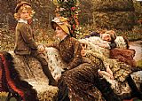 James Jacques Joseph Tissot The Garden Bench painting