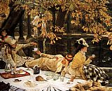 James Jacques Joseph Tissot Tissot The Picnic painting