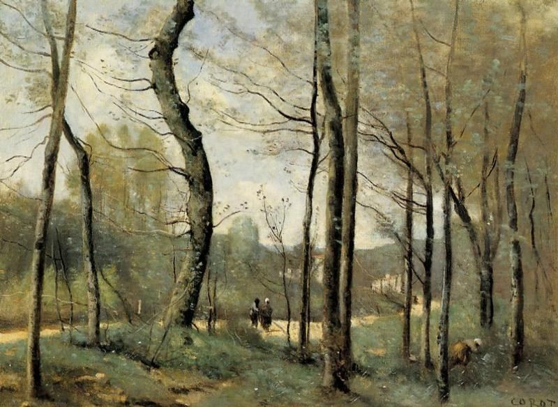 Jean-Baptiste-Camille Corot First Leaves, near Nantes