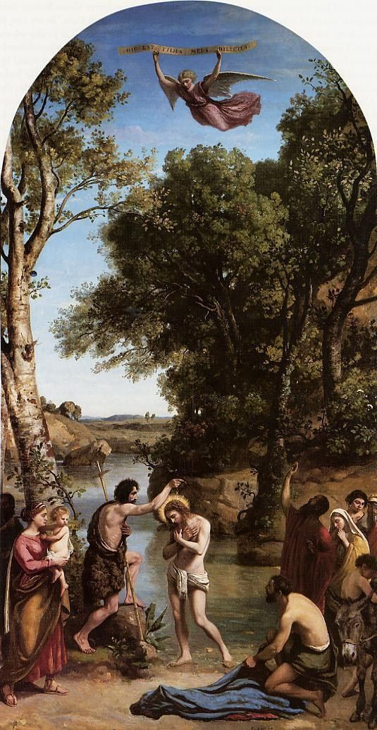 Jean-Baptiste-Camille Corot The Baptism of Christ