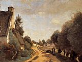 Jean-Baptiste-Camille Corot A Road near Arras painting
