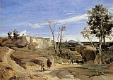 Jean-Baptiste-Camille Corot La Cervara, the Roman Countryside painting