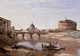 Jean-Baptiste-Camille Corot Rome - Castle Sant'Angelo painting