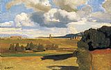 Jean-Baptiste-Camille Corot The Roman Campagna with the Claudian Aqueduct painting