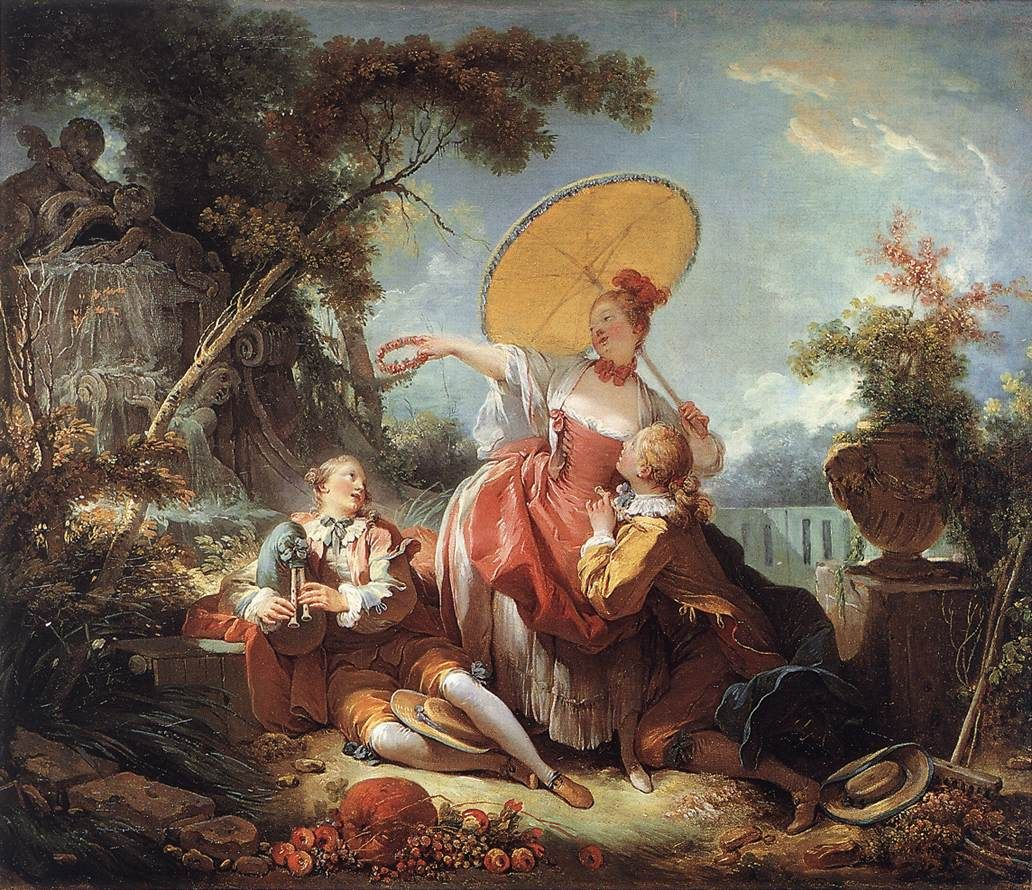 Jean-Honore Fragonard The Musical Contest