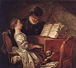 Jean-Honore Fragonard Music Lesson painting