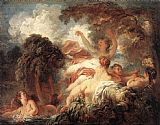 Jean-Honore Fragonard The Bathers painting