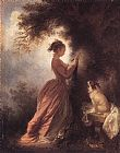 Jean-Honore Fragonard The Souvenir painting