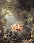 Jean-Honore Fragonard The Swing painting