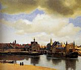 City paintings - View Of Delft by Johannes Vermeer