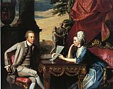 John Singleton Copley Mr. and Mrs. Ralph Izard painting