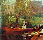 John Singer Sargent A Boating Party painting