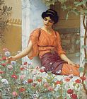 John William Godward Summer Flowers painting