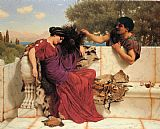 John William Godward The Old Old Story painting
