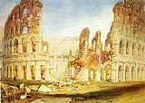 Joseph Mallord William Turner Rome The Colosseum painting